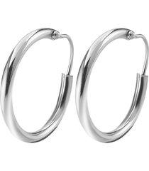 orecchini cerchio 15 mm in argento 925 rodiato per donna