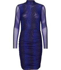 naomi drape dress knälång klänning blå notes du nord