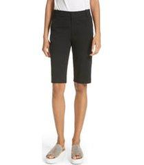 women's vince bermuda shorts, size 16 - black