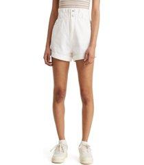 levi's cotton paperbag shorts