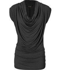 maglia con scollo a cascata (nero) - bodyflirt