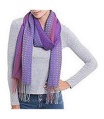 alpaca blend scarf, 'perfect harmony' (peru)