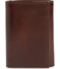 men's johnston & murphy leather wallet - brown