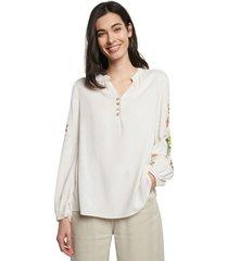 blusa blanco hueso-multicolor desigual