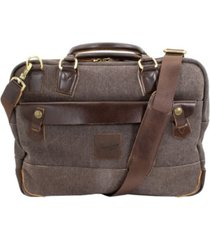 florsheim men's santino canvas messenger bag