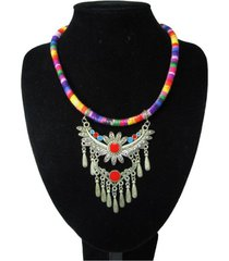 collar artesanal multicolor sasmon cl-12308