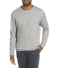 men's nn07 georg 3436 slim fit long sleeve t-shirt, size x-large - grey