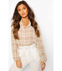 flannel shirt, ecru