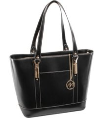 mcklein deva ladies' tote with tablet pocket