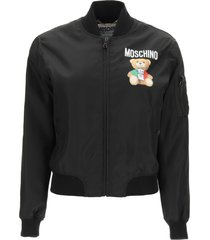 moschino nylon bomber jacket italian teddy bear