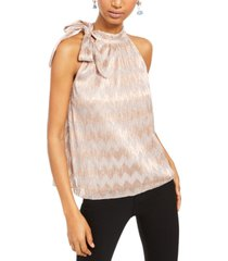 inc tie-neck shine halter top, created for macy's