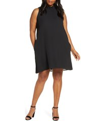 plus size women's gibson x hi sugarplum! cavallo ruffle neck date dress