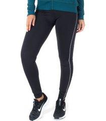 calça legging oxer linhas - feminina - preto/rosa cla
