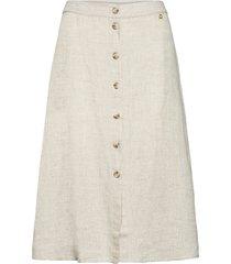 nathalie linen skirt knälång kjol beige morris lady