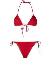 reina olga high-leg bikini - red