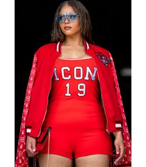 akira plus icon romper with lace up sides