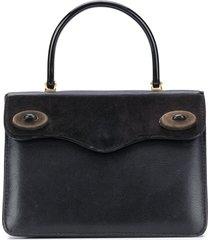a.n.g.e.l.o. vintage cult 1950s flap tote bag - black