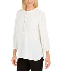 jm collection jeweled pleat-back blouse, created for macy's
