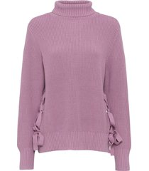 maglione oversize con stringature (rosa) - rainbow