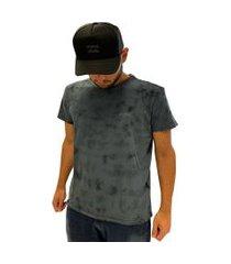 camiseta billabong masculina essential tie dye manga curta