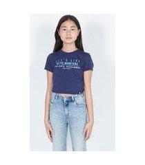t-shirt com estampa degradê azul azul