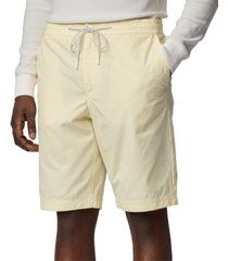 boss men's light pastel yellow sabriel shorts