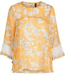 blouse oranje bloemen
