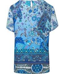 shirt van peter hahn blauw