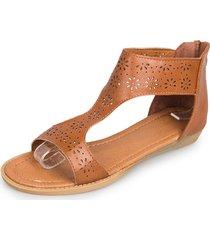 sandali peep toe con punta extra fiore a punta cava