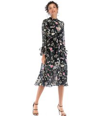 vestido de gasa de encaje de manga larga para mujer vestido mujer