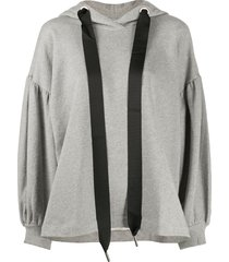 marques'almeida oversized jersey hoodie - grey