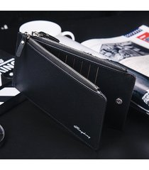 billetera, bolso de tarjeta de visita cruzada cartera-negro