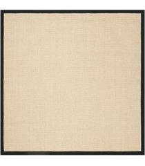 safavieh natural fiber beige and black 6' x 6' sisal weave square rug
