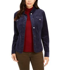 charter club corduroy button-down jacket, created for macy's