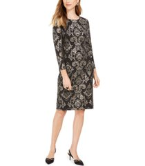 jessica howard petite metallic sheath dress
