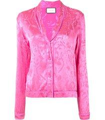 alexis cadi pajama-style blouse - pink