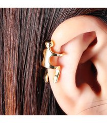 1pz orecchini a clip in colore dorato argente senza buco