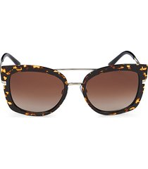 giorgio armani women's 54mm cat eye sunglasses - gold brown