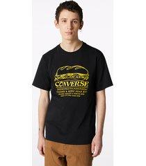 converse camiseta sandwich shop black