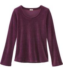 biokatoenen nicki shirt met ronde hals, purple 40
