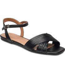 biadelora thin strap sandal shoes summer shoes flat sandals svart bianco