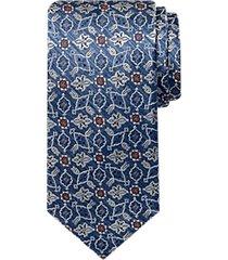 joseph abboud voyager blue ikat pattern narrow tie