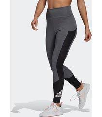legging adidas designed to move big logo cinza feminina