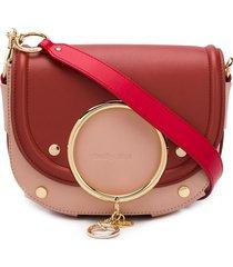 see by chloé mara charm-embellished crossbody bag - pink