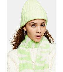 green beanie - green
