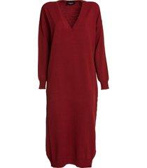 dsquared2 deep v-neck sweater dress