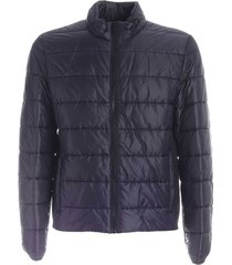 stretch knitted edges down jacket