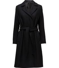 victoire coat wollen jas lange jas zwart filippa k