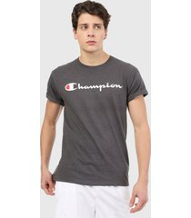 camiseta gris-blanco-rojo champion classic graphic