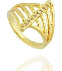 anel dona diva semi joias faixa zircônias